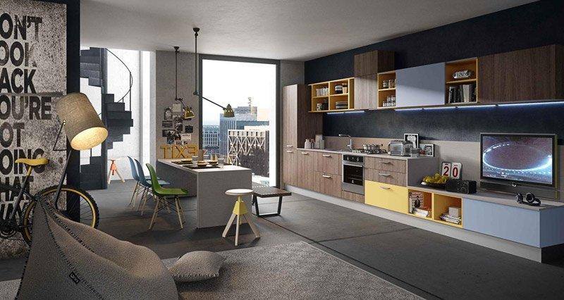Arredamento cucine moderne 2015 arredamento casa e - Cucine e salotti insieme ...