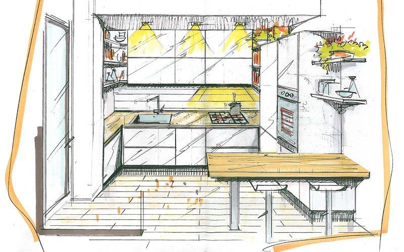 Soluzioni personalizzate per arredare la cucina arredamento casa e cucina a firenze for Arredo casa firenze