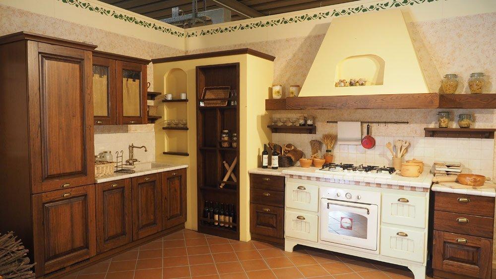 Cucina Modello Casale Castagno Scuro | Arredamento Casa e Cucina a ...